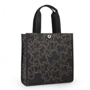 Tous Brown and Black Kaos Tote Bag